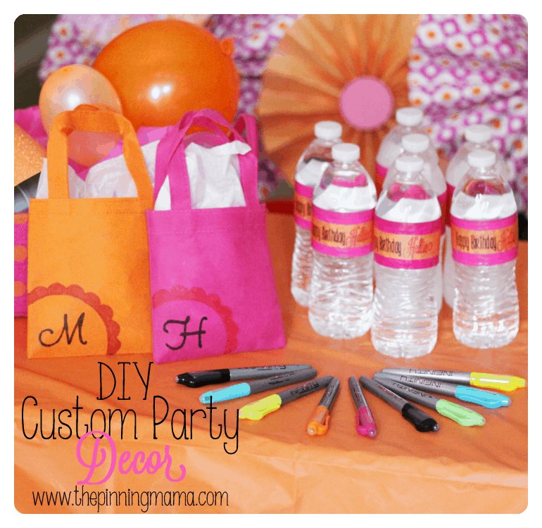 Quick and Easy DIY Party Decor by www.thepinningmama.com