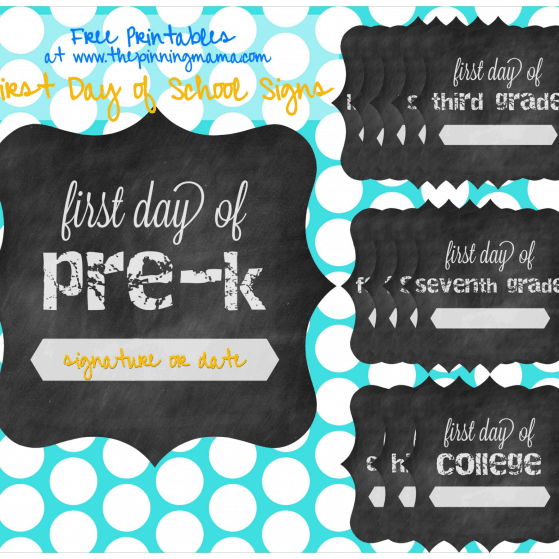 First day of school printable collection www.thepinningmama.com