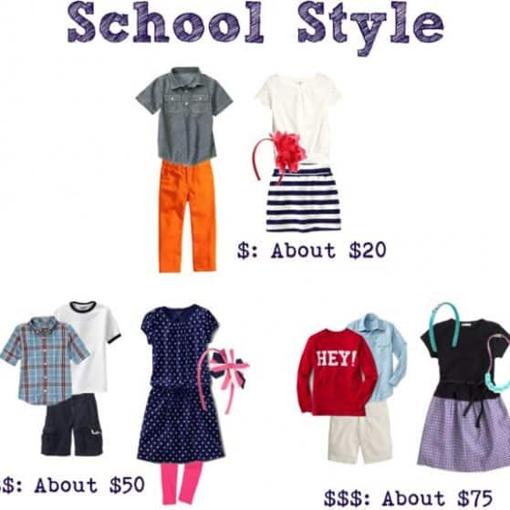 back to school fashion and essentials on a budget www.thepinningmama.com
