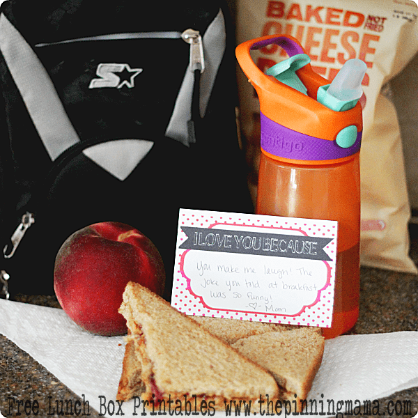 Free Printable Lunch Box Notes - click here to downoad