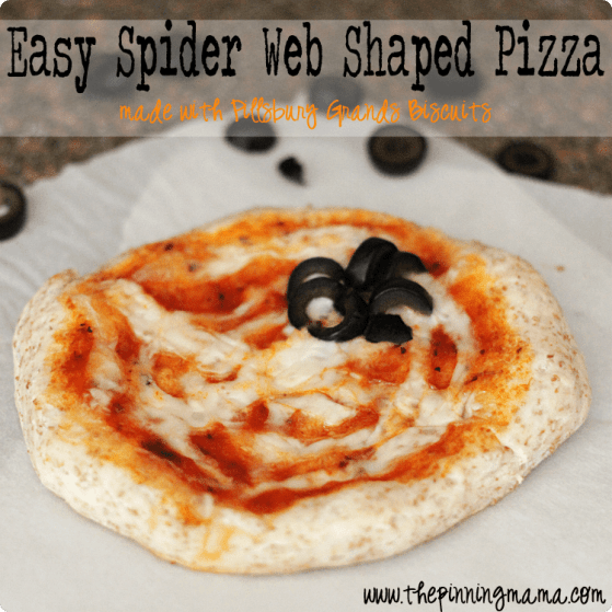 Easy Weeknight Dinner: Pillsbury Spider Shaped Pizza - click here for recipe