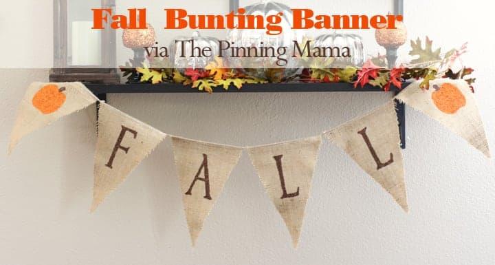 diy Burlap Bunting Banner via The Pinning Mama