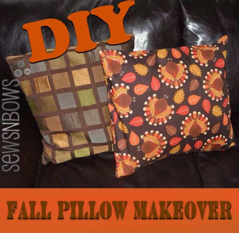 Thanksgiving Pillow Makeover
