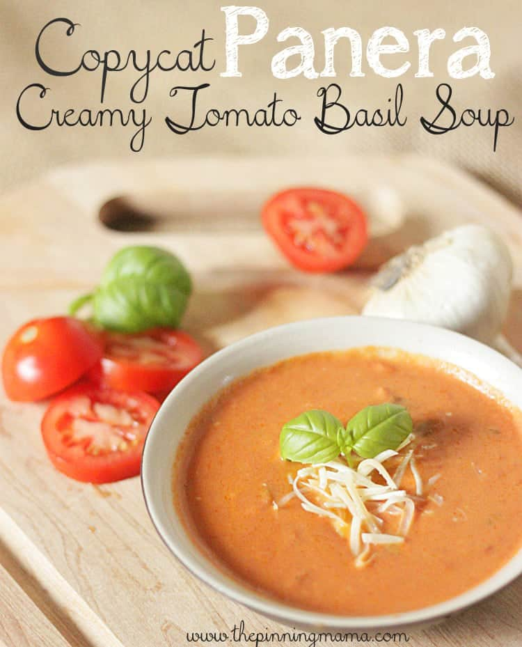 I can't believe this takes only 15 minutes to make!!! Copycat Panera Tomato Basil Soup Recipe