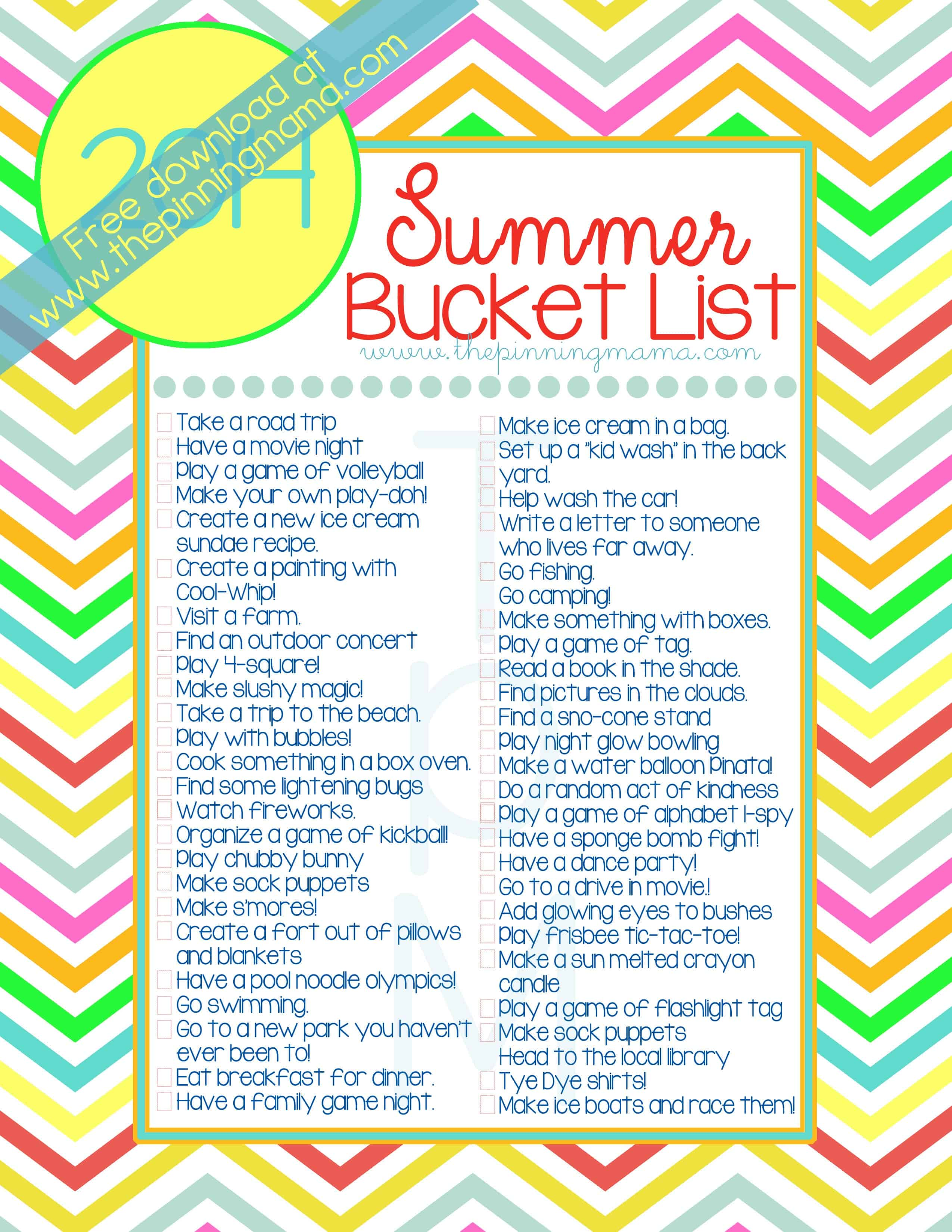Summer Bucket List 50 Ideas Amp Activities For Kids