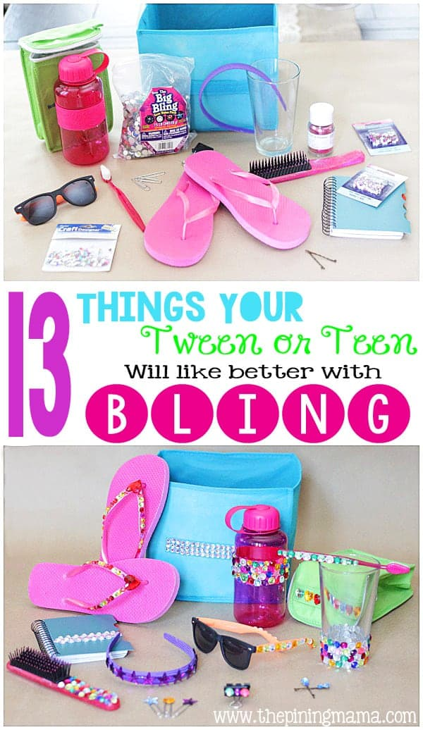 13 Things Your Teen will Like Better with BLING - 13 EASY projects that sparkle!
