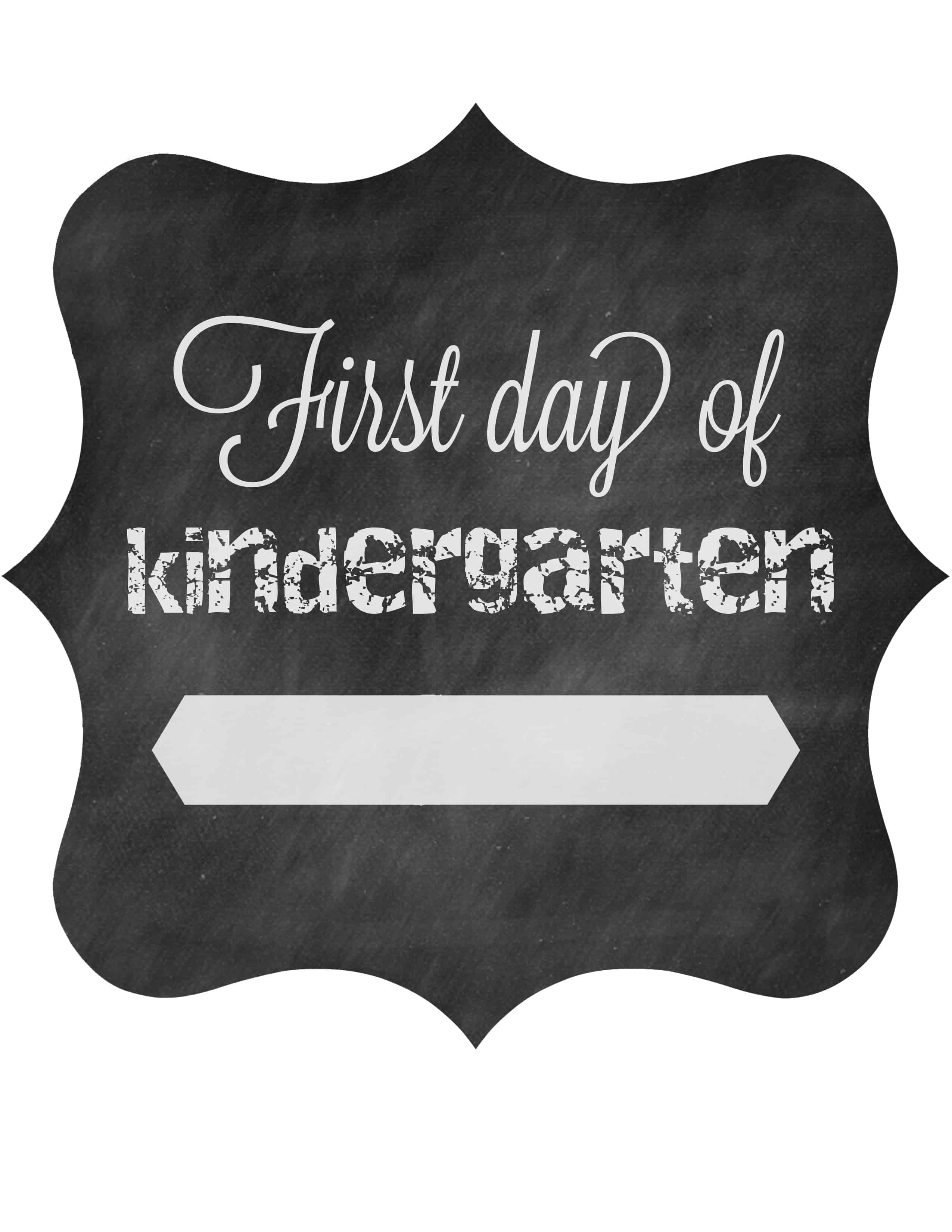 First Day Of School Free Printable Signs The Pinning Mama