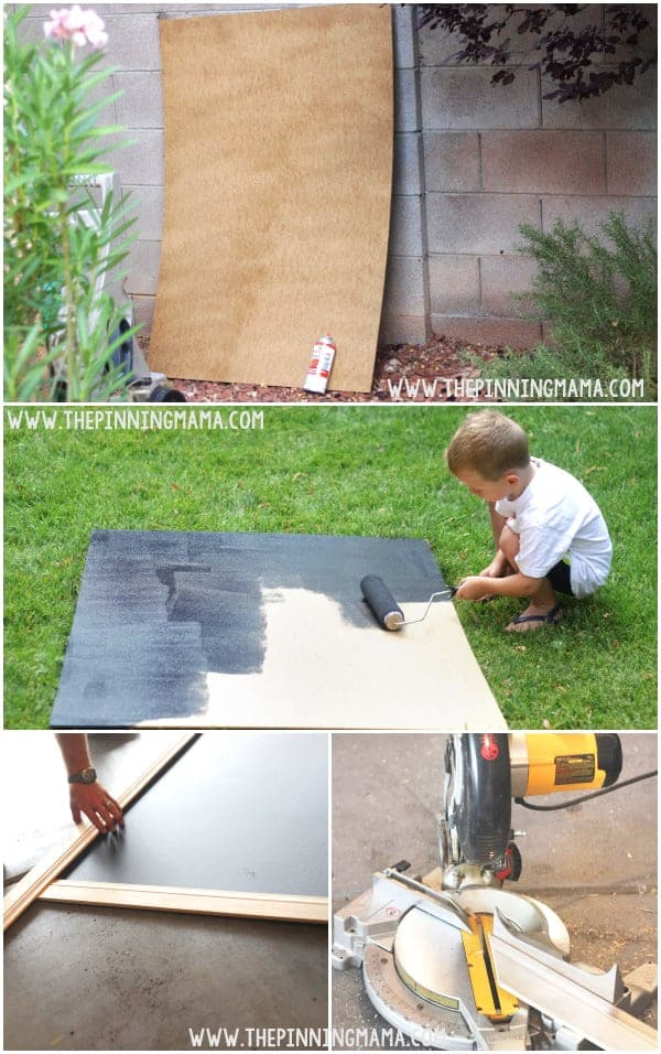 How to make an oversized outdoor chalkboard