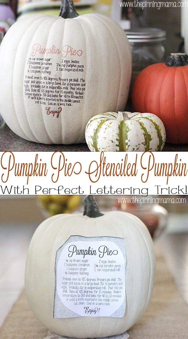 What easy and cute fall decor! I love the easy lettering trick she uses on the pumpkin!