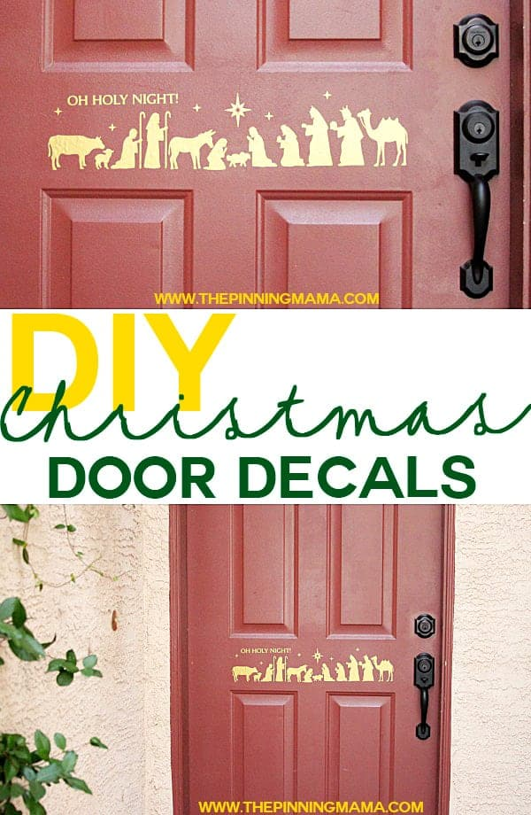 Making a door decal is a quick and easy way to decorate for Christmas!