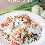 This easy greek chicken bake is one of my all time favorite dinners! Only 6 ingredients and a few steps! Winner!