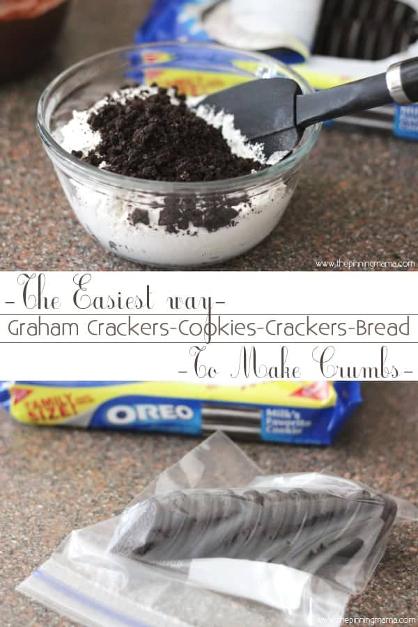 The easy way to make cookie crumbs or cracker crumbs for pie crusts and casseroles!