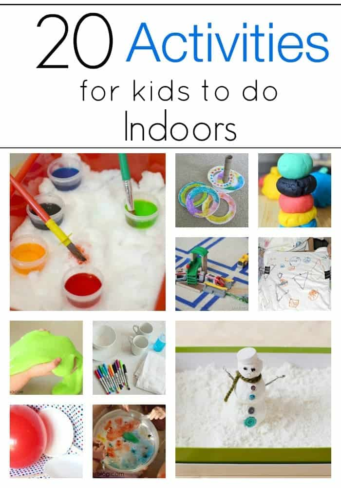 Perfect for this weather!! 20 Indoor Crafts & Activities for kids!