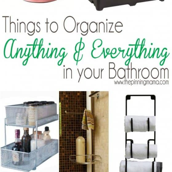 I didn't even know some of these existed! The best products to organize your bathroom at thepinningmama.com