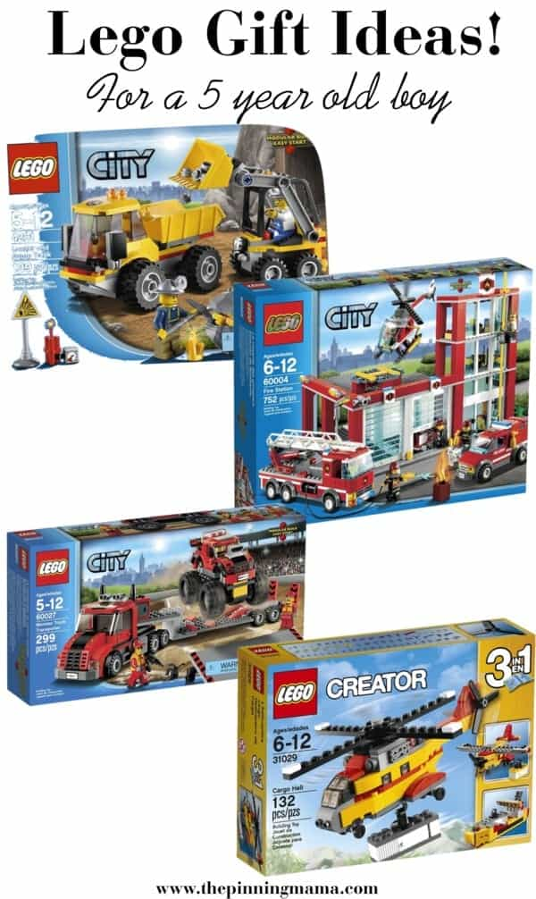 Best Lego Gift Ideas for a 5 Year Old Boy! Including lego city trucks, fire house, and helicopter