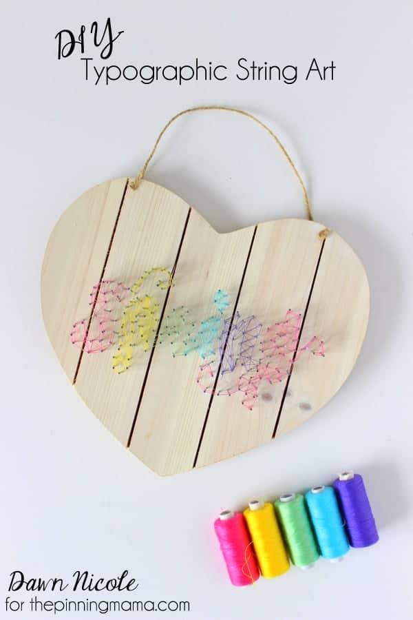 DIY Typographic String Art | thepinningmama.com