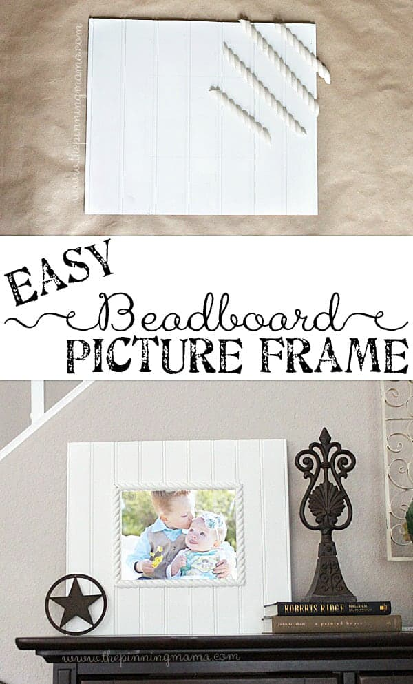DIY this beadboard picture frame easily to make the perfect gift!