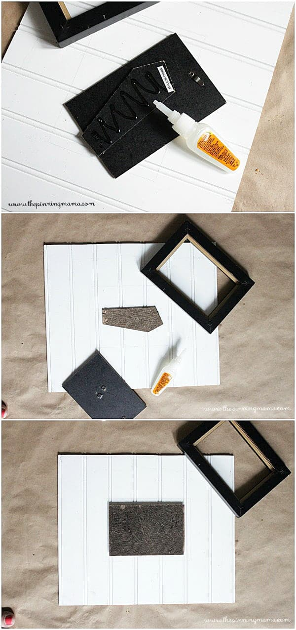 4 steps to making a DIY beadboard frame from an old picture frame