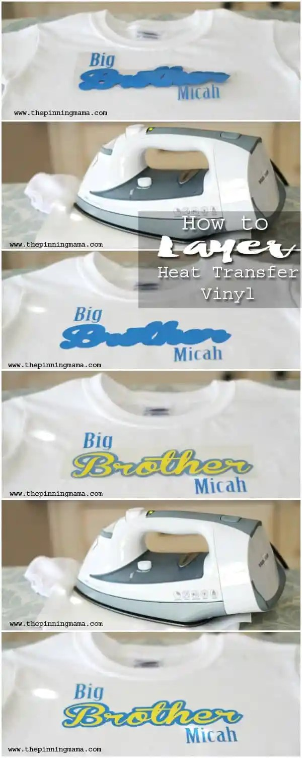 How To Layer Heat Transfer Vinyl The Pinning Mama