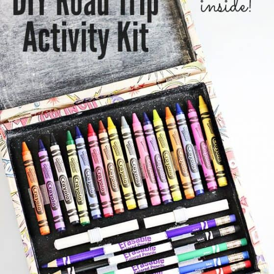 Perfect thing to keep kids busy in the car or on a road trip and SO easy to make!