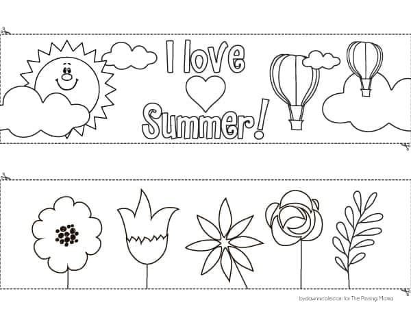 DIY Kids Coloring Page Windsock Craft | ThePinningMama.com
