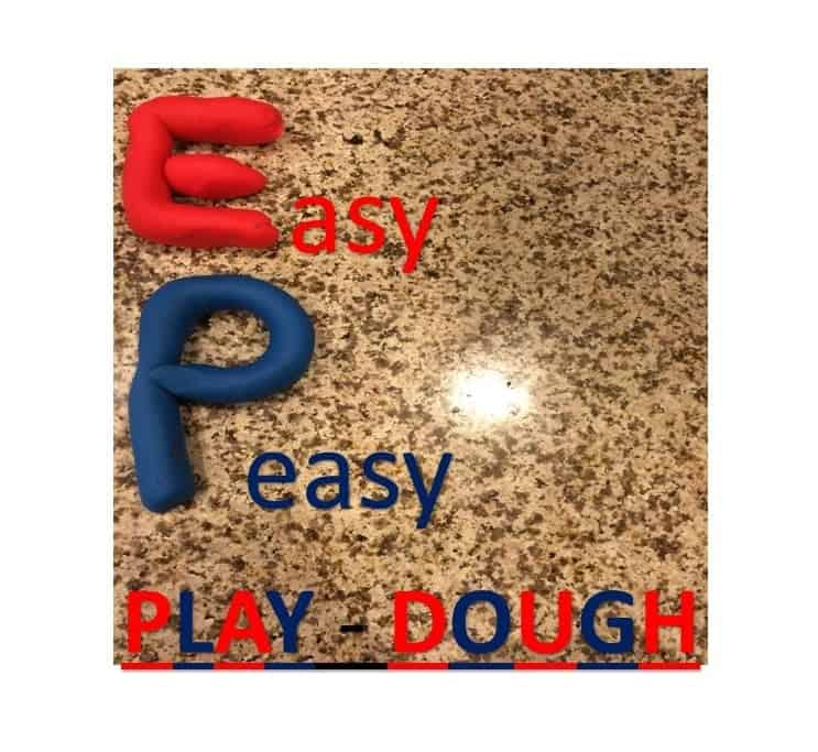Easy Play dough recipe made with a cool trick to get super vibrant colors!!