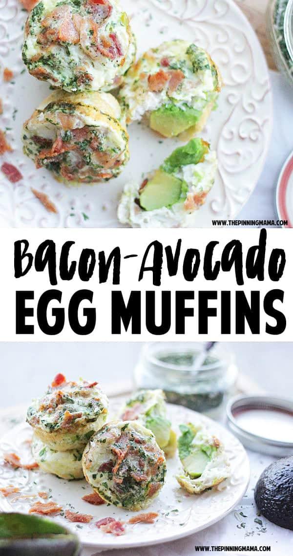 Bacon Ranch Avocado Egg Muffins 6w