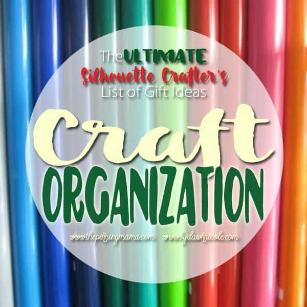 The BEST craft organization ideas for anyone with a Silhouette or Cricut.