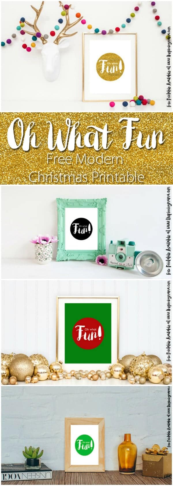 This Oh What Fun Free Christmas Printable is the perfect addition to a classic or modern Christmas decor! Comes in 5 color combos--> Get the free download here!
