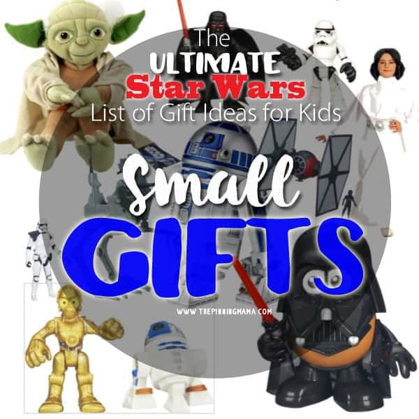 A HUGE list of Star Wars themed gifts! These are super affordable and perfect for stocking stuffers!