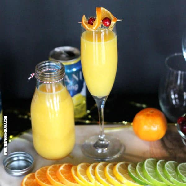 Skinny Mimosa Mocktail recipe- I am totally serving these at the baby shower I am hosting!