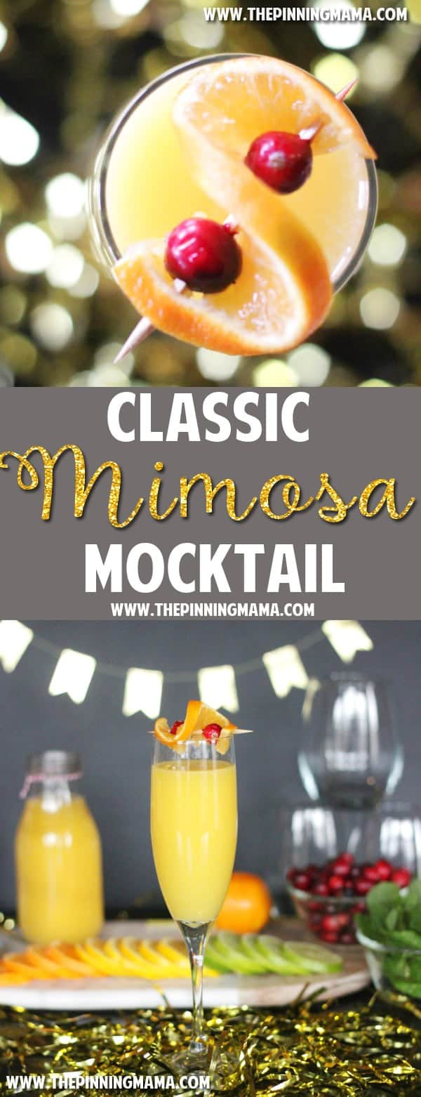 The PERFECT drink! Skinny Mimosa Mocktail recipe - I will definitely serve this when I entertain!