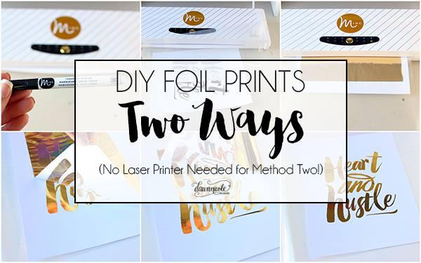 Free Gold Foil Print Design for Heidi Swapp Minc