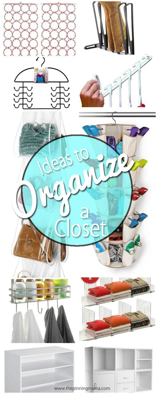 How to Organize a Closet- These things are GENIUS! I didn't even know half of these existed. Pinning to save!