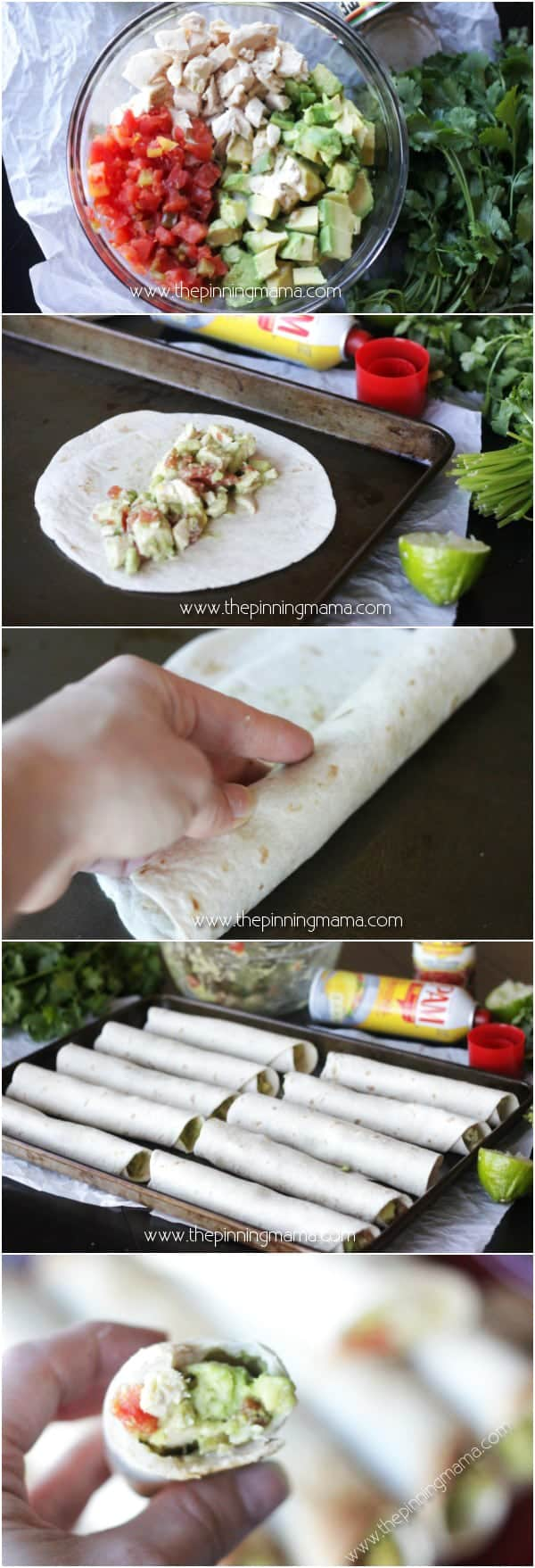 Who knew it was so easy to make taquitos! Making them in the oven makes this comfort food much healthier too. Chicken, avocado and lime are so delicious in this recipe!