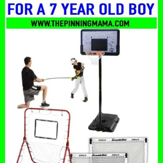 Best sports gifts for a 7 year old boy. Great ideas for birthday presents and Christmas presents