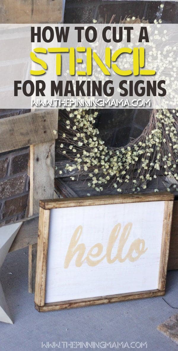 How to cut any font into a stencil to make wood signs or other stencil craft projects.
