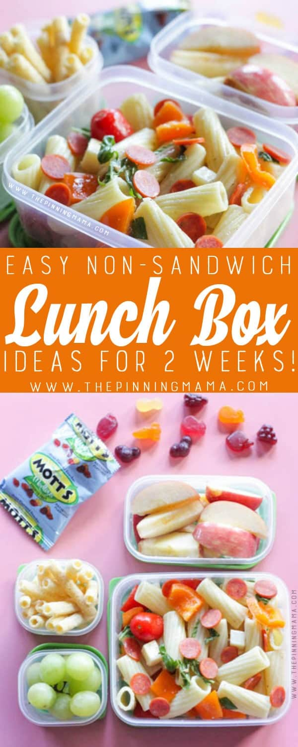 2 Weeks Of No Sandwich Lunch Box Ideas Kids Will Love No Repeats The Pinning Mama