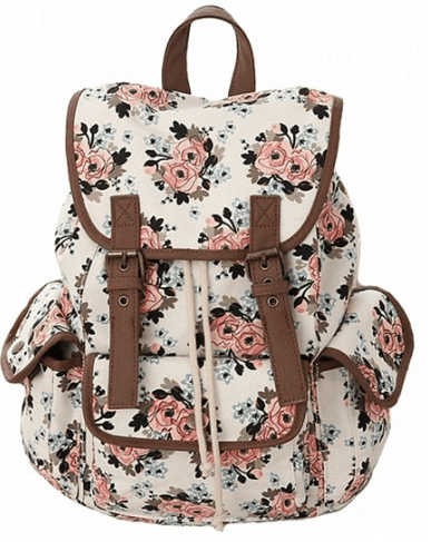 10+ Coolest Backpacks for Girls: Canvas Floral | www.thepinningmama.com