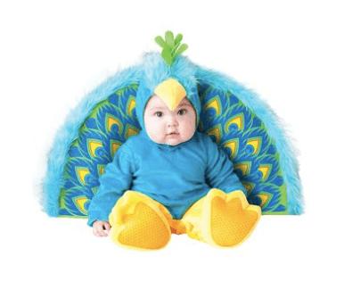10+ Cutest Halloween Costumes for Baby Girl : Precious Peacock | www.thepinningmama.com