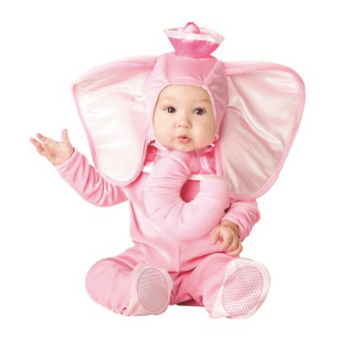 10+ Cutest Halloween Costumes for Baby Girl : Pink Elephant | www.thepinningmama.com