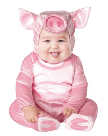 10+ Cutest Halloween Costumes for Baby Girl : Lil' Piggy | www.thepinningmama.com