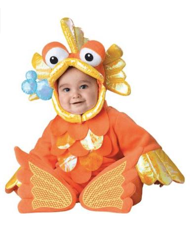 10+ Cutest Halloween Costumes for Baby Girl : Goldfish | www.thepinningmama.com