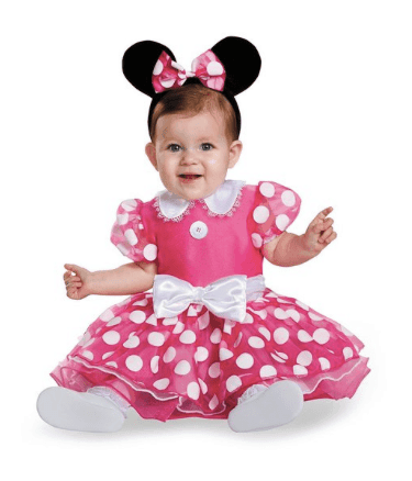 10+ Cutest Halloween Costumes for Baby Girl : Minnie Mouse| www.thepinningmama.com