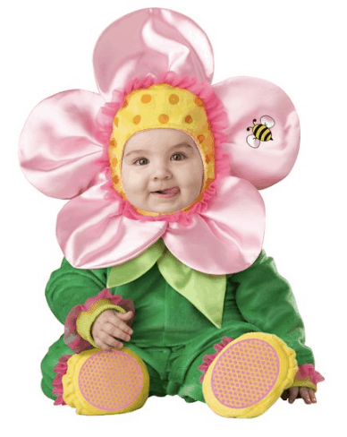 10+ Cutest Halloween Costumes for Baby Girl : Flower | www.thepinningmama.com