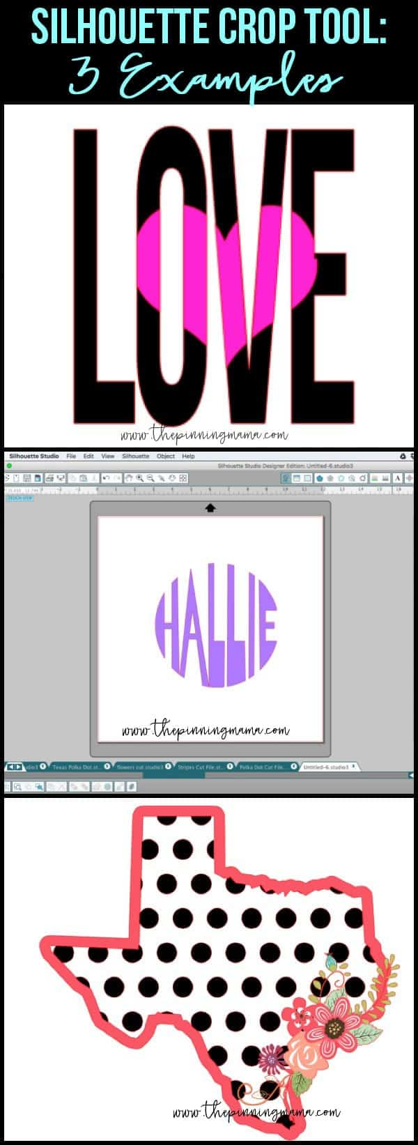 4 AWESOME ways to use the SIlhouette Crop tool!!! Learn how to design any craft you can imagine in the Silhouette Studio software!