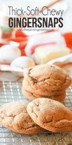 These are the thickest and softest gingersnaps that I have ever made, I love this recipe!