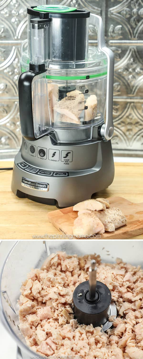 The Hamilton Beach Pro Food Processor makes chopping chicken so fast and easy!
