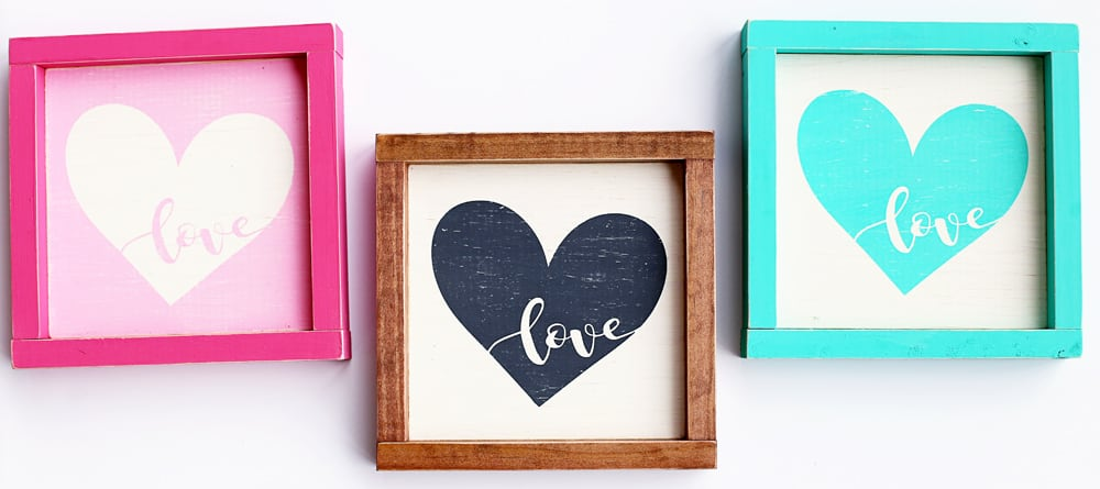Heart Wooden Sign - Free Silhouette Cut File Perfect for Valentine's day but you could leave it up all year around it is too cute!