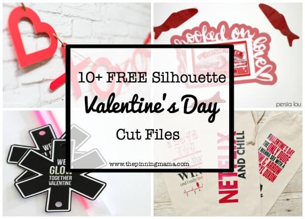 10 Free Valentines Silhouette Cut Files | www.thepinningmama.com